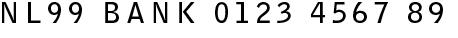 IBAN nummer voorbeeld