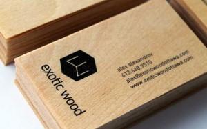 houten visitekaartjes